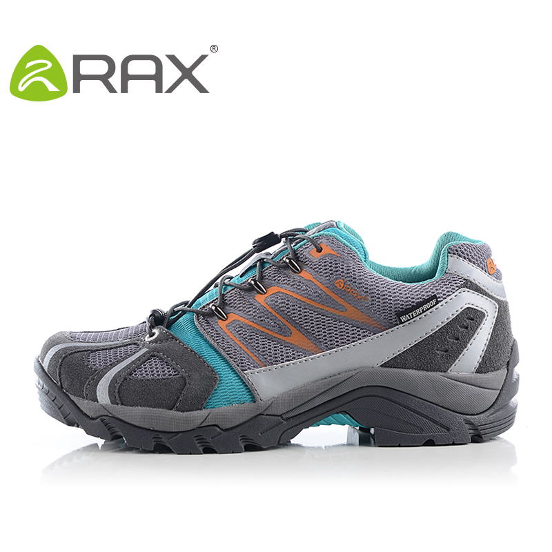 RAX Waterproof Hiking Shoes Men Women V-TEX Suede Leather Warm Winter Hiking Boots Outdoor Walking Shoes Men Women yin qi shi man winter outdoor shoes hiking camping trip high top hiking boots cow leather durable female plush warm outdoor boot