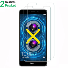 2Pcs Tempered Glass For Huawei Honor 6X Screen Protector 9H 2.5D Phone