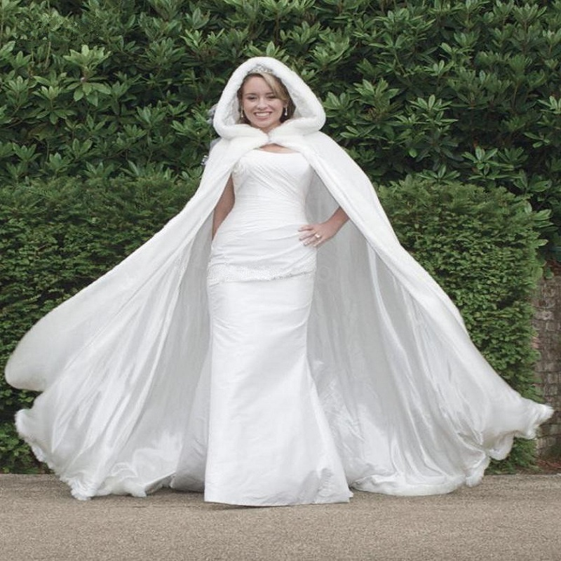 Popular hooded wedding dress buy cheap hooded wedding for Winter style wedding dresses