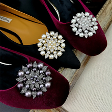 High quality pearl shoes decorations removable flower shoes