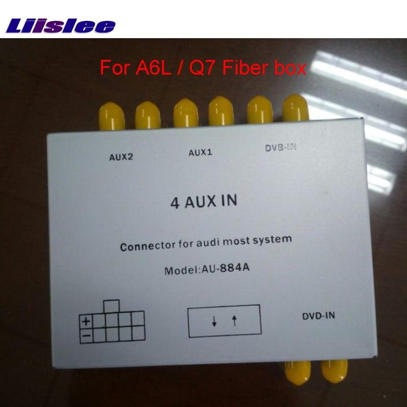 Liislee специальные колонки и кабели питания для ph системы и Audi A6L / Q7 автомобиля с усилителем оптического волокна