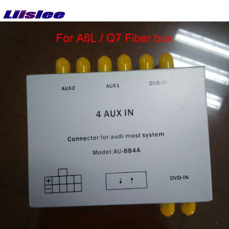 Liislee Special Speakers & Power Cables For PH System & For Audi A6L / Q7 Car With Optical Fiber Amplifier Box