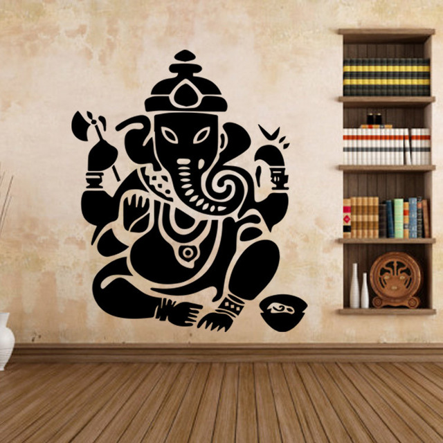 large wall stickers for living room india traditional accent chairs aliexpress com buy buddhist art aw9487 removable waterproof home decoration decal mural 6 colors each