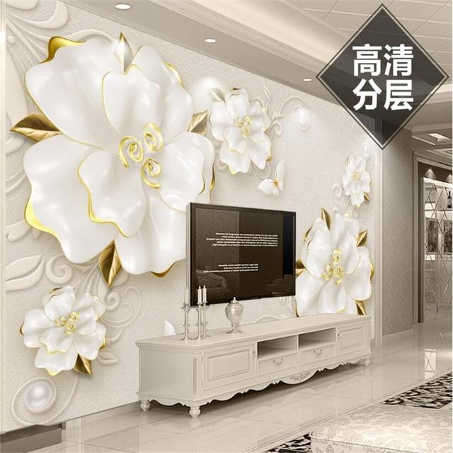 Beibehang Custom Wallpaper Living Room Bedroom Mural Hd 3d Relief