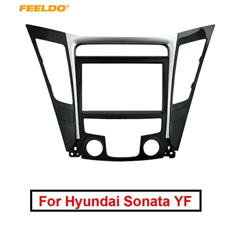 Cadre de Fascia 2Din pour Hyundai Sonata YF (LHD & RHD) kit d'outils pour habillage de tableau de bord stéréo