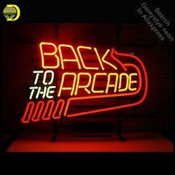 Neony na z powrotem do arcade Neon znak światła ręcznie Neon żarówka u nas państwo lampy rzeczywistym szklana rurka udekorować pokoju znaki dropshipping