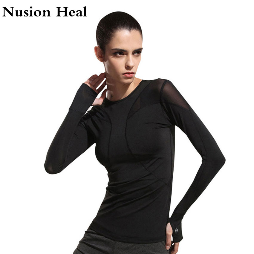 Women-Mesh-Hollow-Out-Yoga-Top-Full-Sleeve-Sport-T-Shirt-Quick-Dry-Fitness-Clothing-Sports