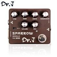 Dr J D53 Stompbox Sparrow Driver DI Bass Guitar Effect Pedal True Bypass Guitar Accessory Musicial