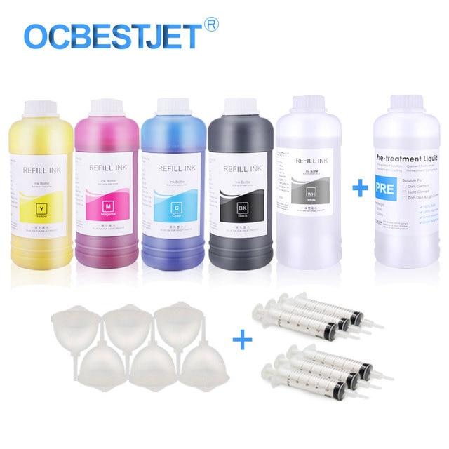DTG Tinta Digital Tekstil Tinta untuk Epson T50 T60 1390 1400 1430 R1900 R2000 R3000 untuk DTG Tinta Printer Garment putih Tinta untuk Epson