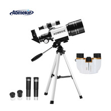 AOMEKIE 70mm Refractor Telescope & 8X21 Binoculars for Moon Viewing Bird Watching Sightseeing High Power Vision Kids Gift 8x21 kids binoculars compact binocular roof prism for bird watching educational learning christmas gifts children toys