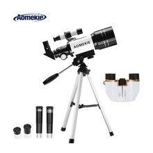 AOMEKIE 70mm Refractor Telescope & 8X21 Binoculars for Moon Viewing Bird Watching Sightseeing High Power Vision Kids Gift