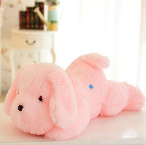 32cm/45CM Kawaii Colorful Change Teddy Dog Luminous Cute Soft  Led Light Plush Toy Kids Toys Children Birthday Gift Wholesale