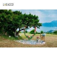 Laeacco Nature Scenic Tree Wreath Bridal Portrait Photography Backgrounds Customized Photographic Backdrops for Photo Studio