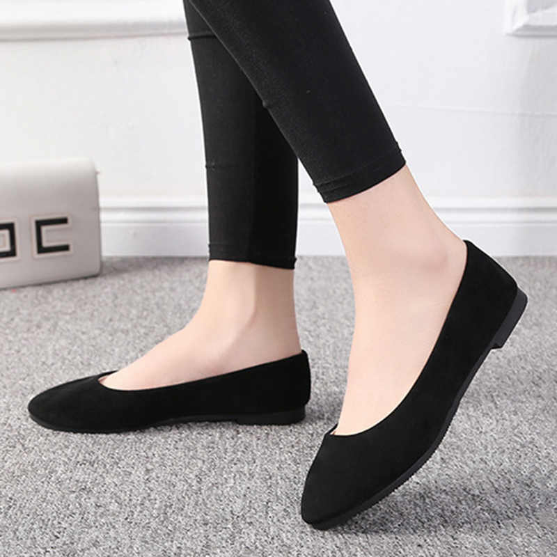 Plus Size 35-42 Women Shoes Candy Color Slip On Flats Boat Shoes Women Black Loafers Cheap Shallow Ladies Woman Ballet Shoes