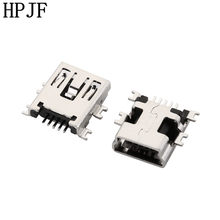 10PCS Mini USB Tipo B Femmina 5 Spille SMT SMD Shen bordo PCB Presa del Connettore(China)