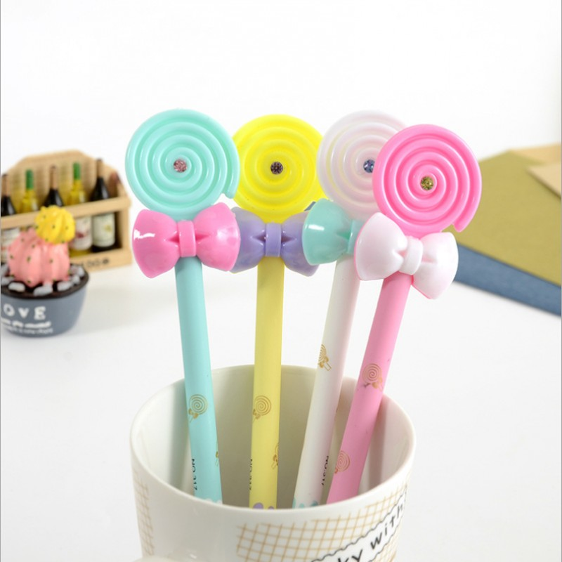 4pcs/lot Sweet princess bow-tie lollipops gel pens stationery caneta material escolar office school supplies papelaria kids gift