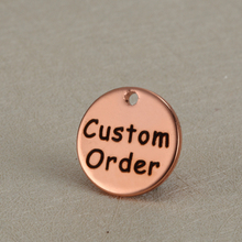 20PCS Original custom order Fashion Rose Gold Color DIY Engraved Pendant Necklaces Accessories Jewelry Accept lettering