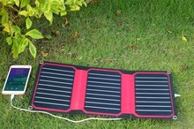 Xinpuguang Solar Charger 15W 5V Red ETFE High Efficiency Portable 12V Solar Panel Cell Flexible USB Interface Waterproof