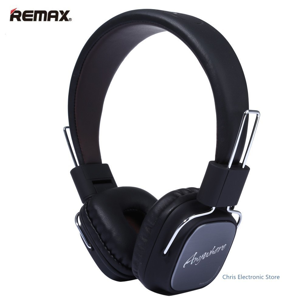 Original REMAX RM-100H HiFi Stereo Headphone Over-ear with 3.5mm In-line Mic Cable Headset Music Eradphone For phone 1.2 m Cable