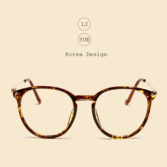 LIYUE Vintage Round Glasses Female Spectacles frame Men Eyeglasses prescription eyewear Retro Decoration Optical glasses frame