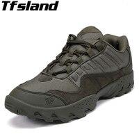 Tfsland Men Outdoor Desert Boots U.S Military Assault Tactical Boots Breathable Wear Slip Men Travel Hiking Shoes Botas Sneakers