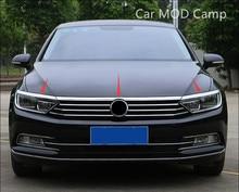 For Volkswagen Passat B8 2017 2018 (Only fit European model Stainless Front Fog Light Eyebrow Trim&Upper Grille Cover Trim 3pcs