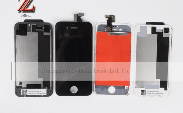 Lcd for iphone 4 4g 4s lcd with touch digitizer 100% new and original Black and white the same price 1pcs/lot free shipping