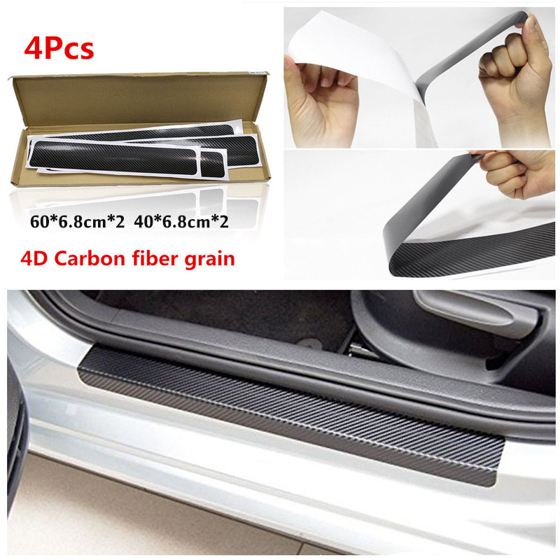 Vehemo 3D Car Protective Sticker Car Scuff Protective Sill Cover For Toyota Camry Corolla RAV4 ViosVitz Prius Avensis 2018 New babaai flag pattern pu leather car seat cover for toyota corolla camry rav4 prius avensis c hr front rear full universal car
