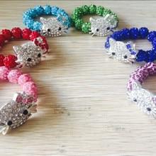 6 шт hello kitty Браслеты Для детей цепочка веревка ручной работы обертывание браслеты