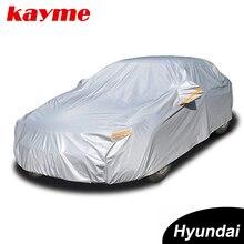 Kayme aluminium Waterproof car covers super sun protection dust Rain car cover full universal auto suv protective for Hyundai