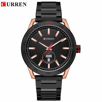 Curren 8331 Fashion Casual Full Steel Men Sport Quartz Watch Mens Watches With Box