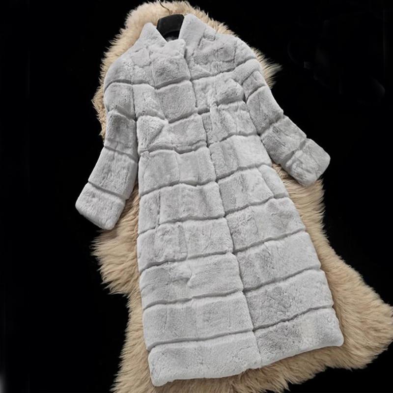 Abrigo de piel Real para mujer chaqueta de piel Real Festival piel Real Rex conejo sr466-in piel real from Ropa de mujer    1