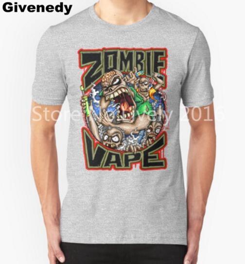 zombie vape Mens & Womens Letters Printed T shirt short sleeve top tees