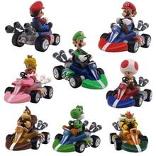 7 Styles Super Mario Bros Mario Pull Back Kart Racer Car Donkey Kong Luigi Yoshi Toad