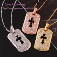 N831 Top Quality,Nickle Free Gold Color CZ Crystal Necklace Pendants New Fashion Jewelry,Welcome Mixed Wholesale
