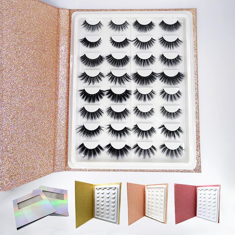 Mangodot 16pairs Mink Eyelashes 3D Thick HandMade Eyelash book wholesale Cilios Luxury Lashes Volume False