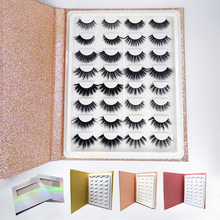 Mangodot 16pairs Mink Eyelashes 3D Thick HandMade Eyelash book wholesale Cilios Luxury Lashes Volume False