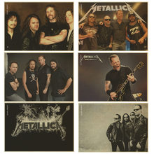 Metallica band poster retro Kraft paper independent avant-garde heavy metal rock vintage poster bar room decor(China)