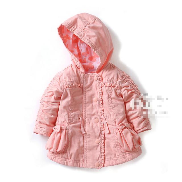 2016 outono além de veludo casacos manga jaquetas meninas Outerwear casaco de roupas crianças 3 M - 18 M
