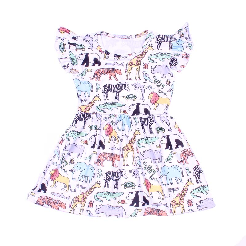 baby girls summer dress clothing girls animal dress girls soft milksilk dress children girls party dress kids wear short sleeve