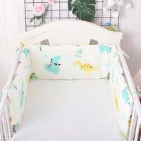 Милые Мультяшные детские мягкие бортики для кровати цельные u-образные бортики для кроватки новорожденных защита для кроватки хлопковый ко...