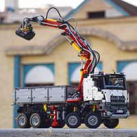 90005 3245 sztuk Technic serii Arocs 3245 ciężarówka zestawy klocków budowlanych edukacyjne zabawki dla dzieci kompatybilny z 20005 42043