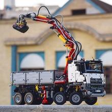 Лепин 20005 3245 шт. техника серии Arocs 3245 грузовиков Строительные блоки Устанавливает обучающие игрушки для детей совместимы с 42043