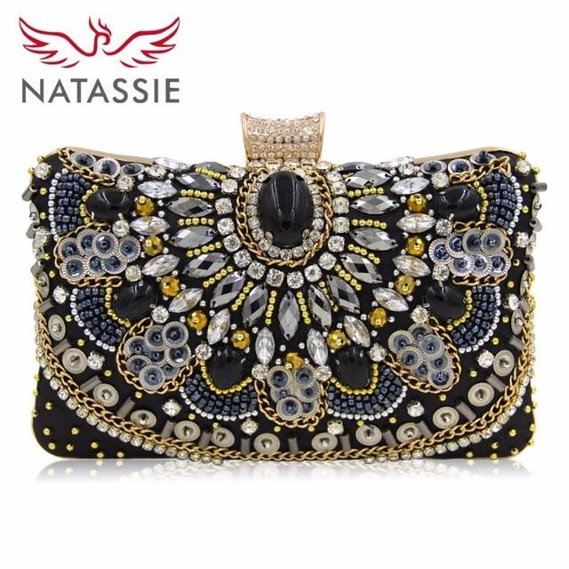 Aliexpress.com : Buy NATASSIE Women Clutch Ladies Diamond Day ...