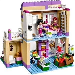 """Image 2 - Игрушка """"сделай сам"""" 10495 Heartlake 41108 для рынка пищевых продуктов, строительные блоки, модели игрушек для детей, совместимые с Legoe Friends, кубики, фигурки"""