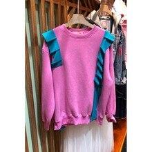 women hoodies sweatshirts ladies autumn winter fall patchwork  classics comfort elegance clothing sweat shirts cute
