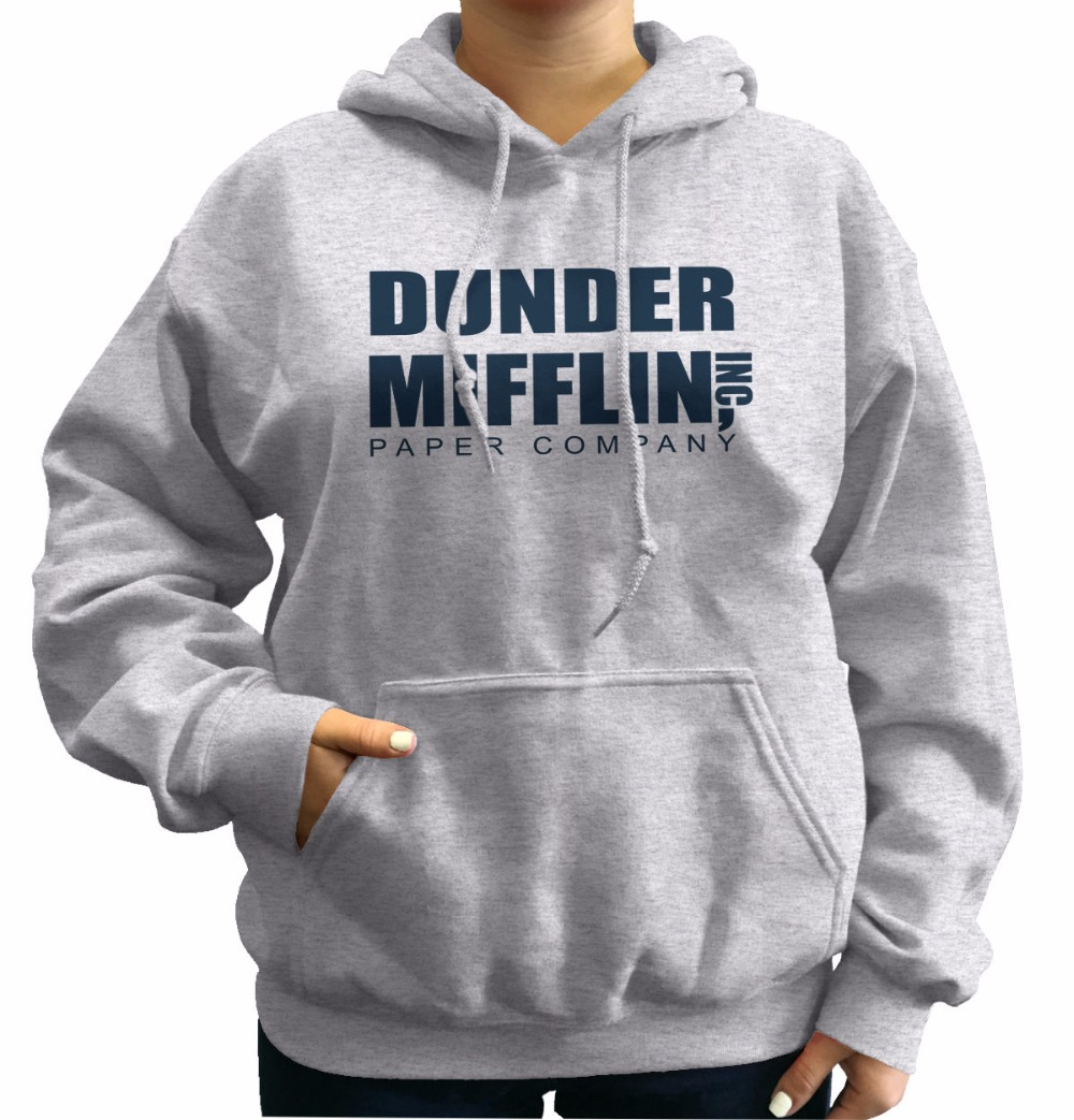 85a854de Winter hoodie Dunder Mifflin Inc A Paper Company Funny TV Show Holiday Gift  Hoodies Cotton fashion sweat homme hoodie sweatshirt-in Hoodies &  Sweatshirts ...