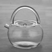 Handgemachte Schleife Griff Hitzebeständige Klarglas Tee Wasserkocher Teekanne 800 ml 27 unze