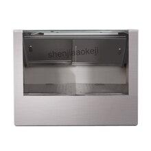 Гладкий, нержавеющая сталь крышка подогреватель попкорна стеклянный шкаф-витрина коммерческий попкорн изолированный шкаф Отопление витрина