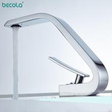 BECOLA ChromeBasin Faucets Modern Bathroom Mixer Tap Brass Washbasin Faucet Single Handle Single Hole Elegant Crane For Bathroom стоимость